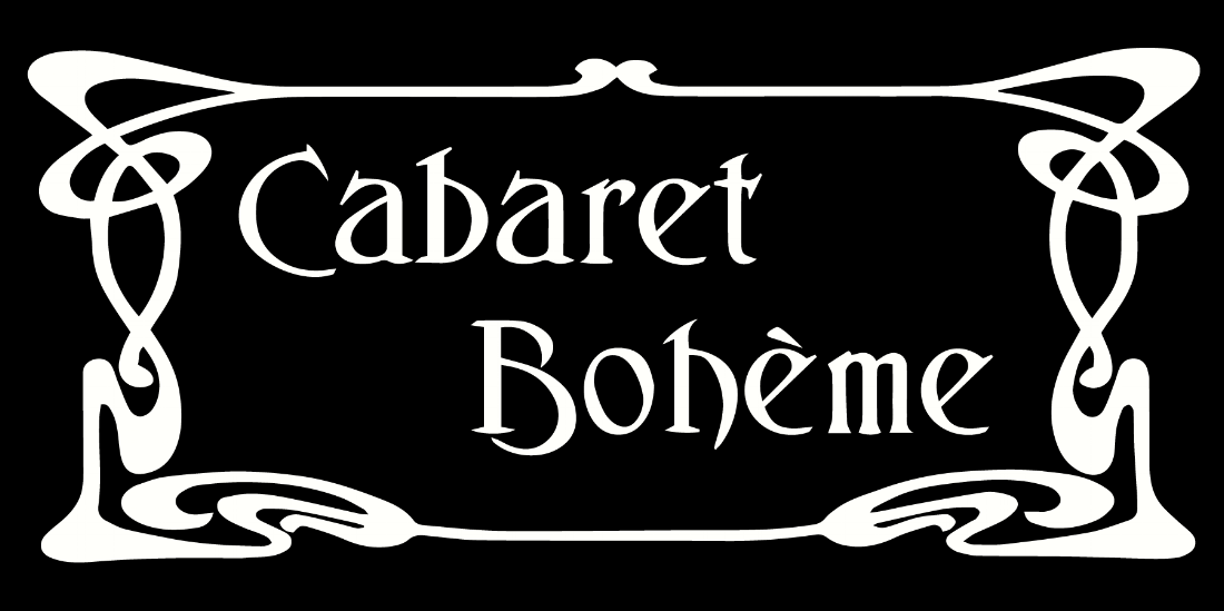 Cabaret Boheme Logo - Small - 3X6 - Transparent - White.png