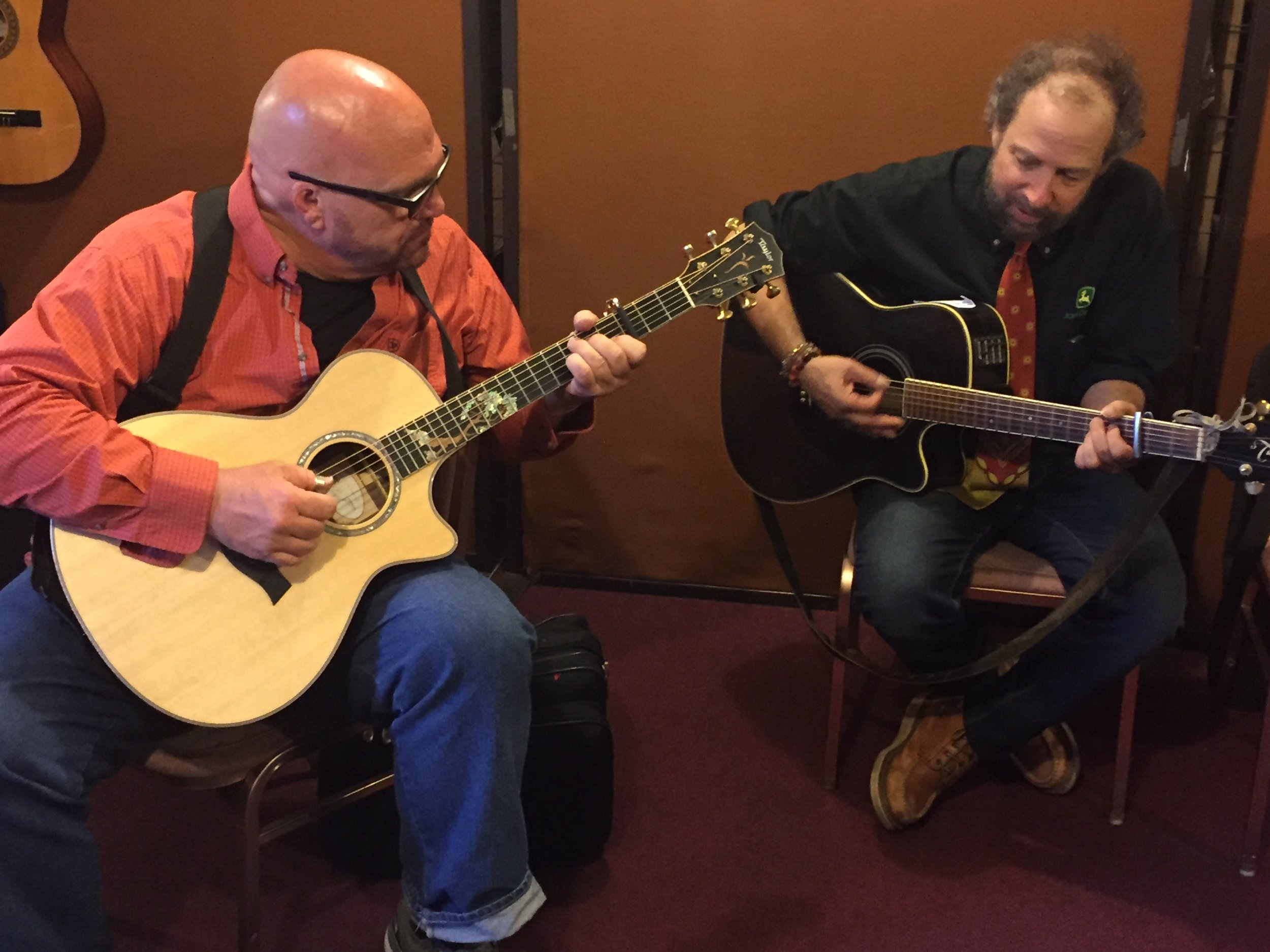 Darryl Purpose with songwriter Paul Zollo