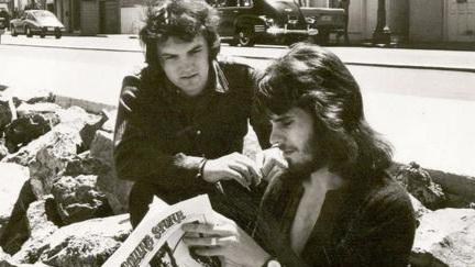 Mike with Iain Matthews - 1970