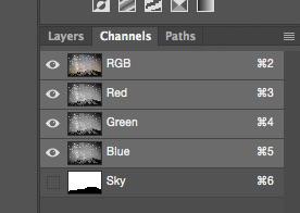 Channels palette
