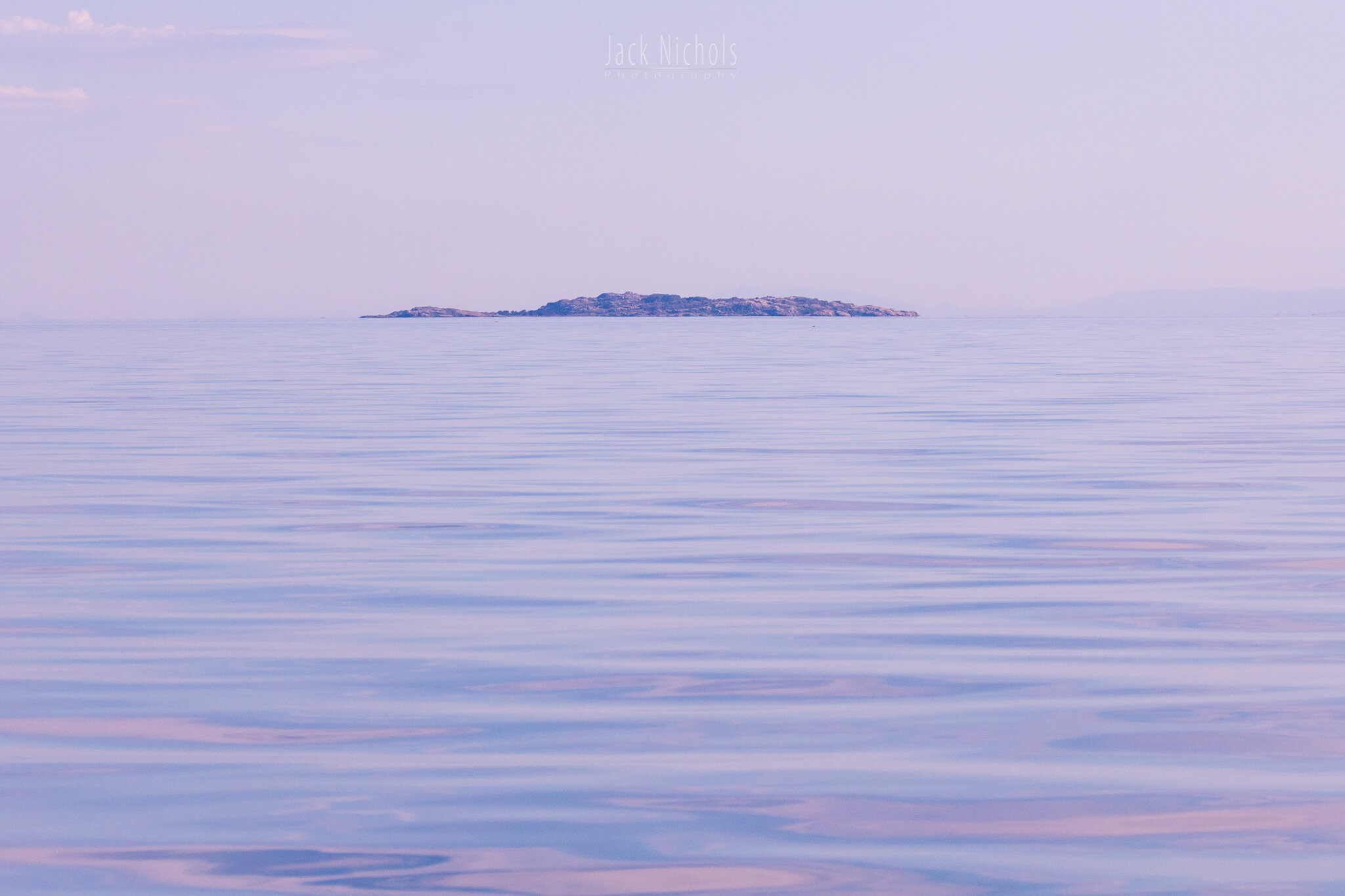 Campbell River, Water - Small distant island on the horizon with calm seas-20190906.jpg