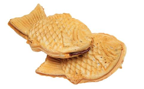 Traditional taiyaki with azuki red bean filling