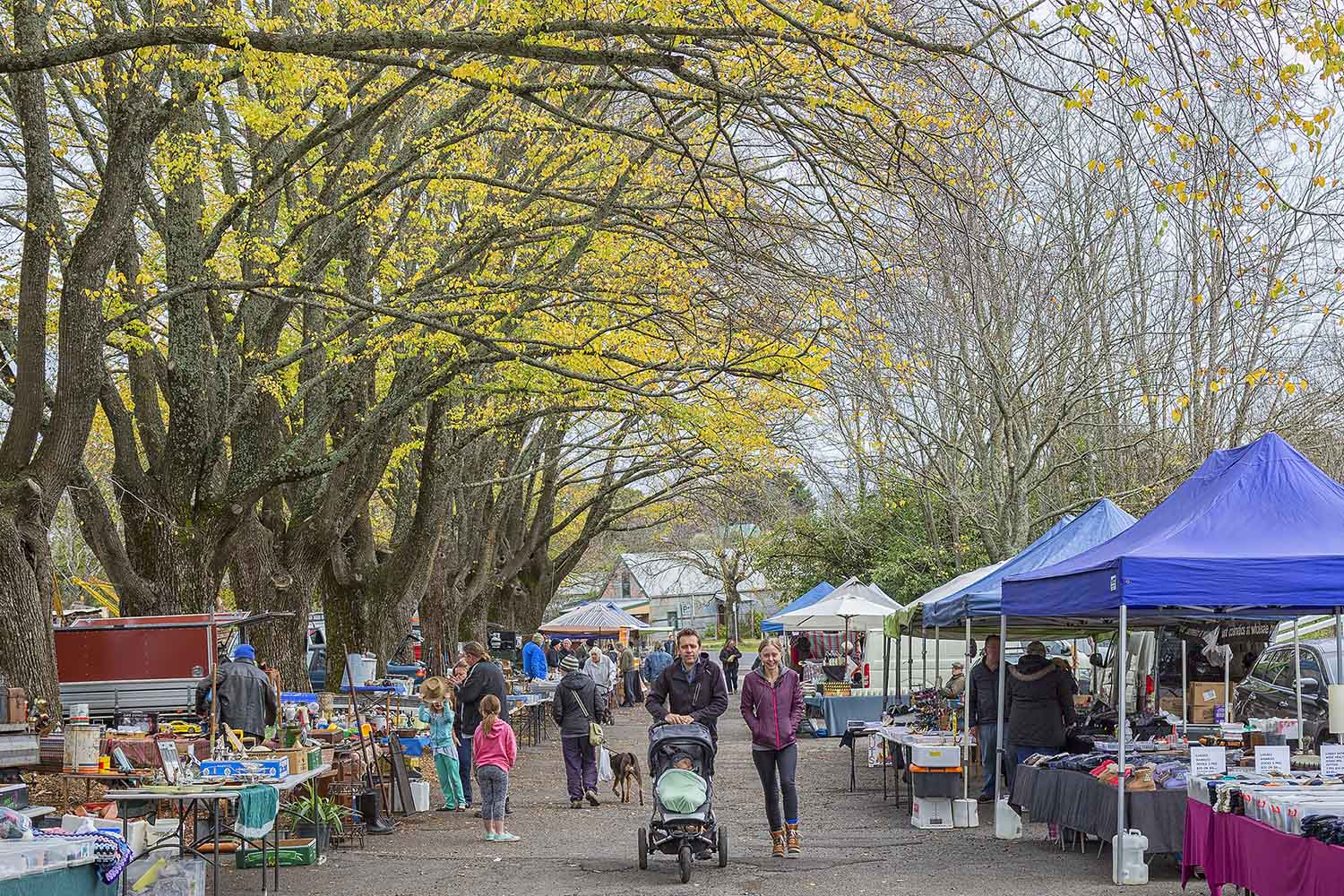 Locals and tourists enjoy the delights of the Daylesford Sunday market
