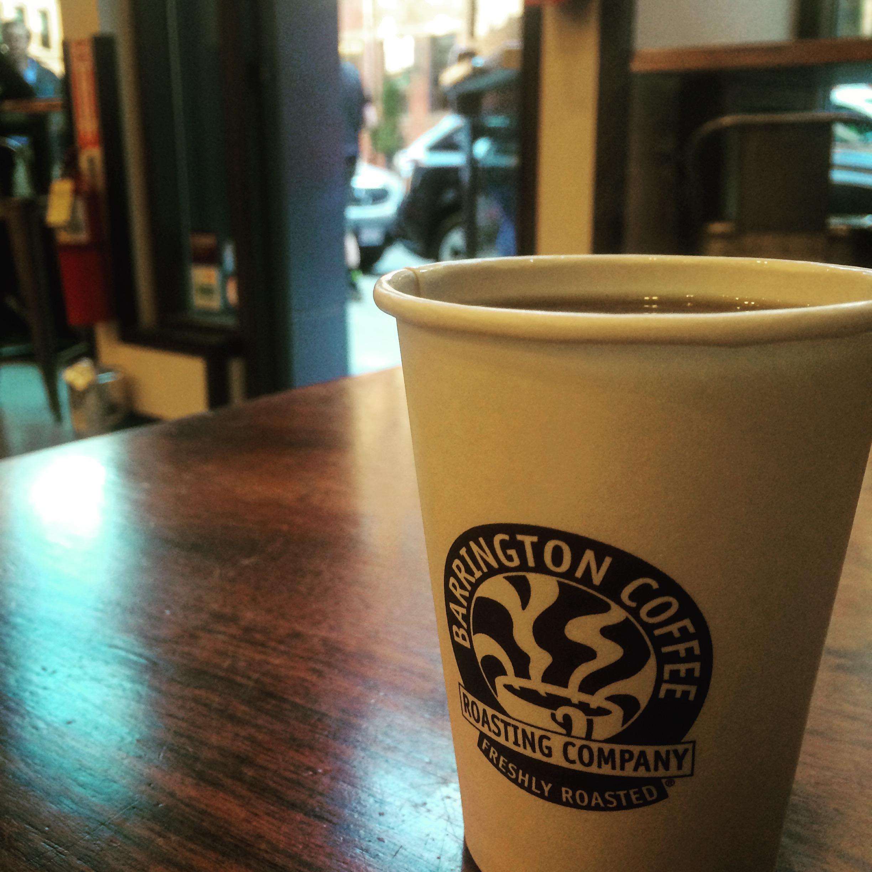 Coffee from Barrington Coffee.