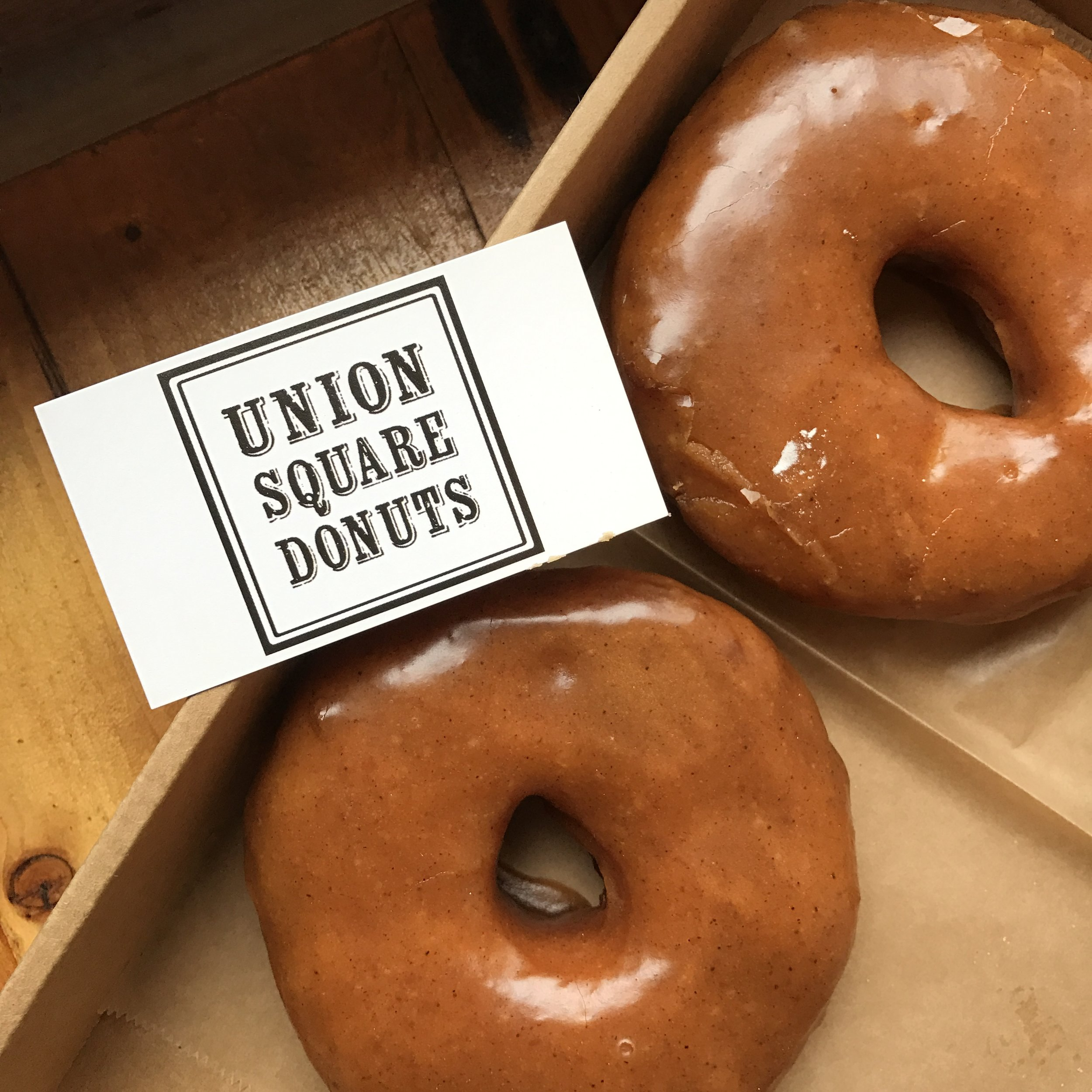 You don't have to be vegan to love   Union Square Donut  's Vegan Pumpkin Spice donut. Find these at their Somerville shop in Union Square, and they also sell donuts at the Boston Public Market.