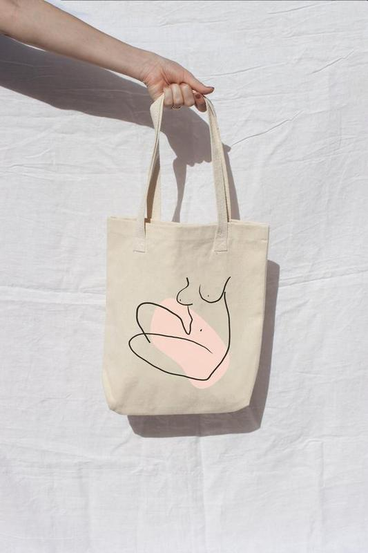 Nude Female Tote by The Printable Concept