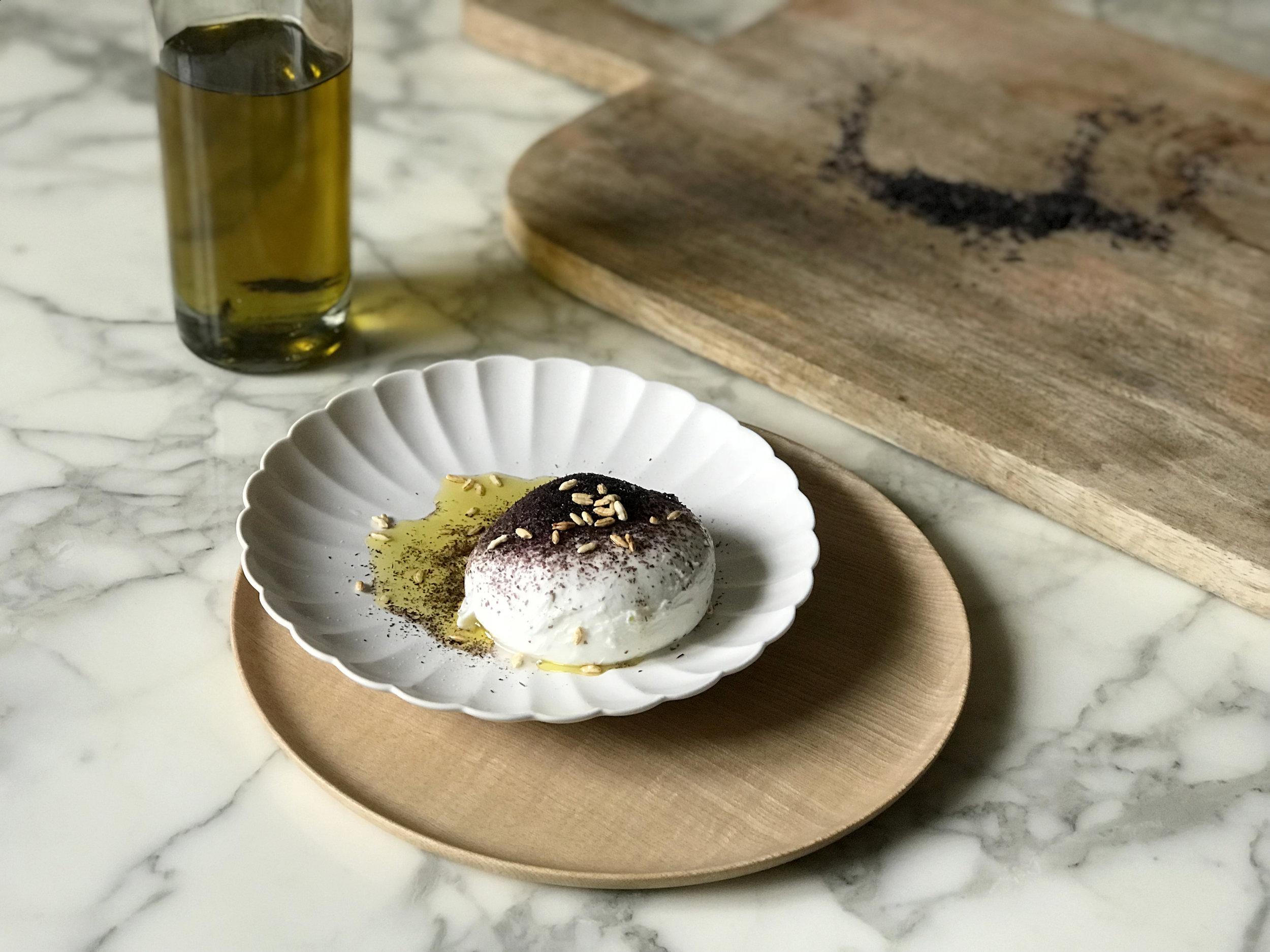 China Kiku plate and Soji wooden plate from  Shopu .