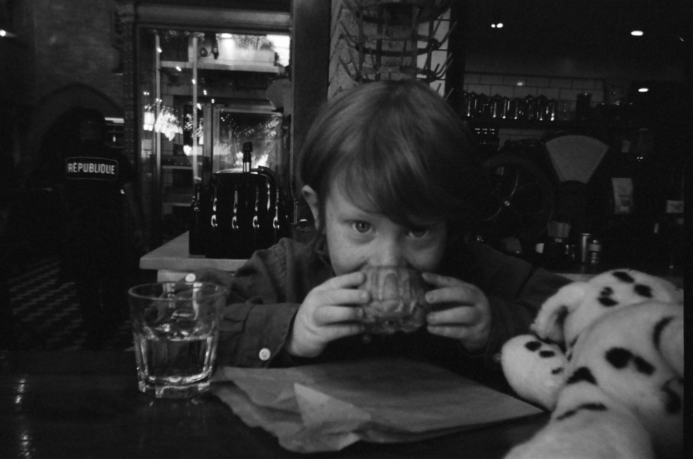 Sharing a quick breakfast at  République  with Shea.  Photo by moi.