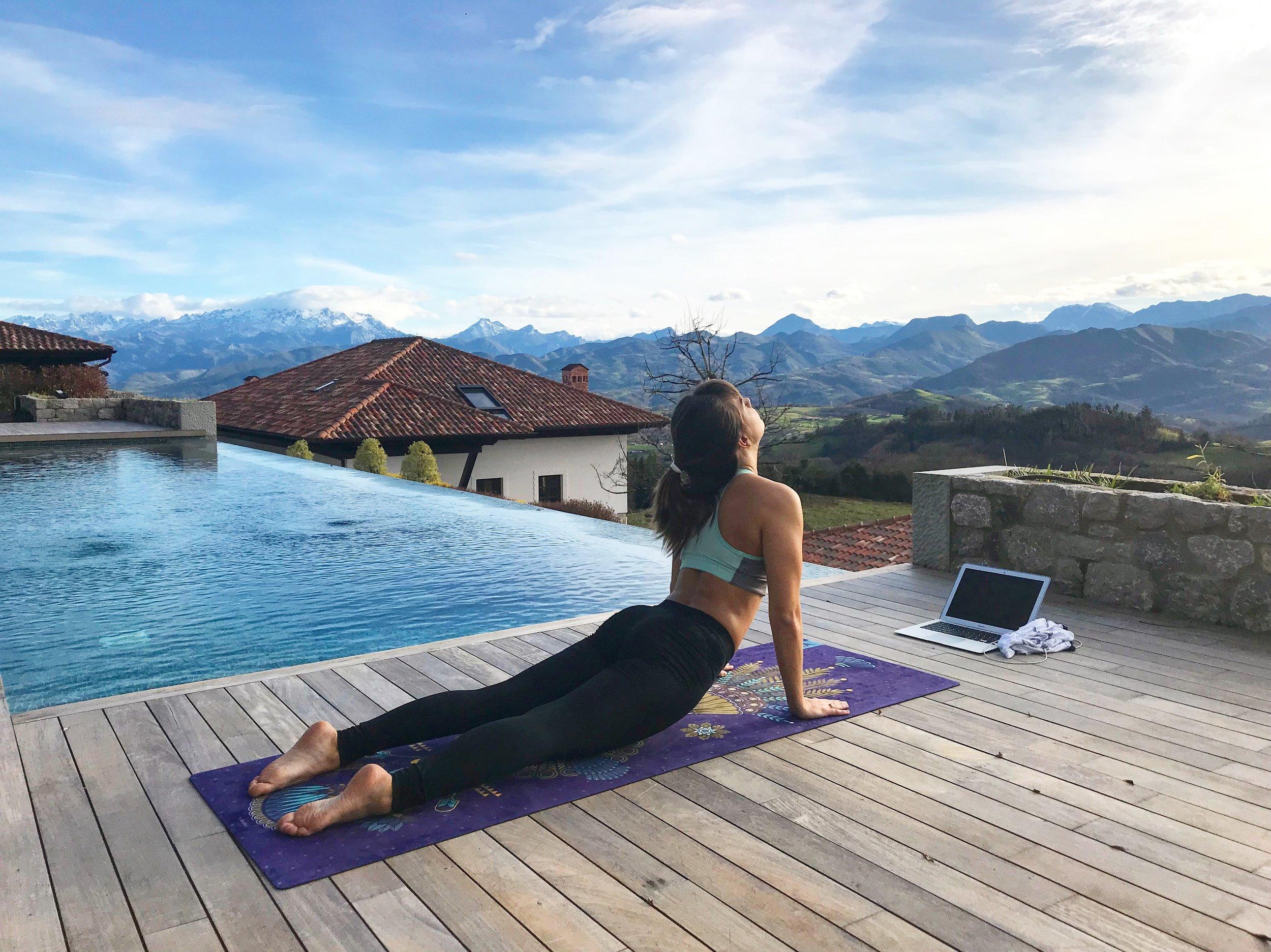 Une cliente de Yoga Connect