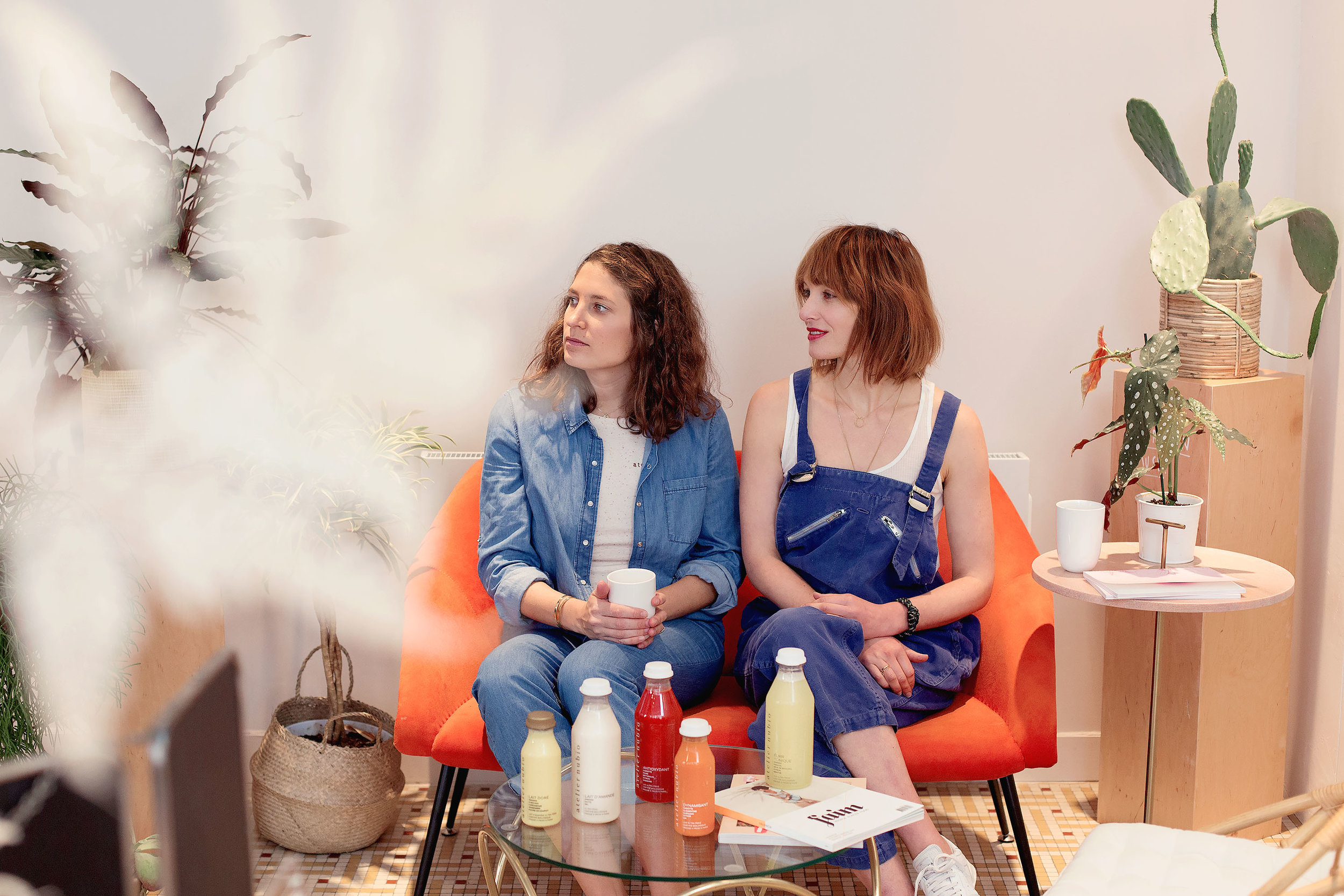 The cofounders of Atelier Nubio: Gabrielle on the left and Claire on the right