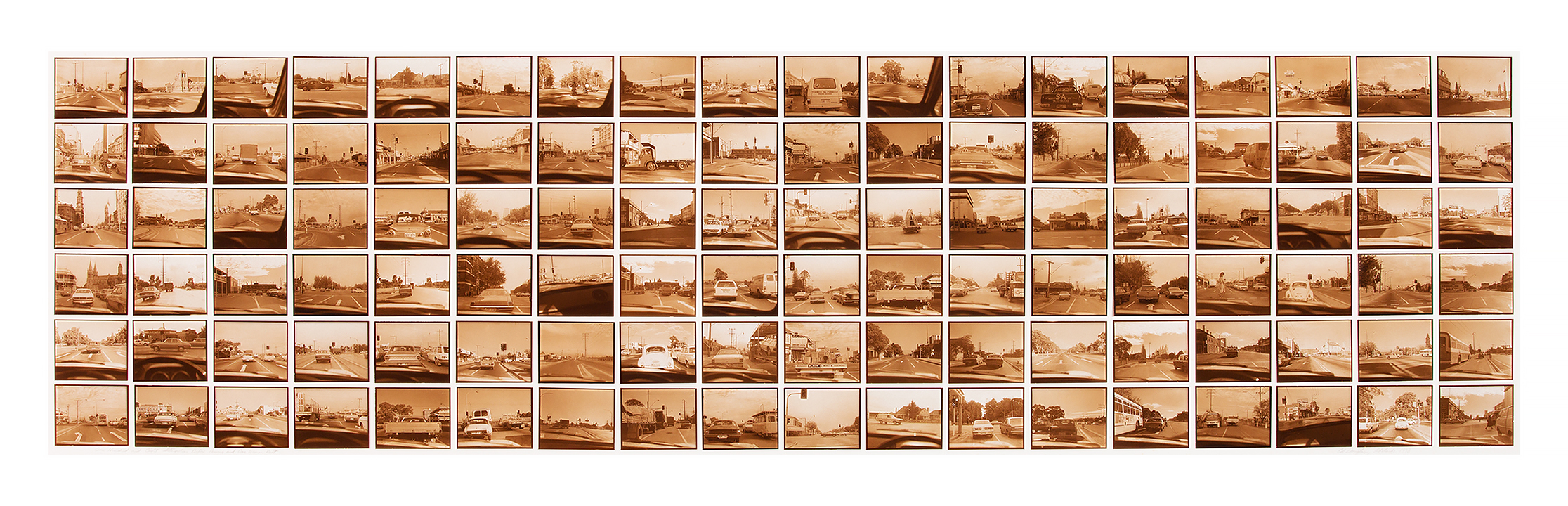 108 Intersections  1978 108 gelatin silver prints (POP) 36.5cm x 139.5cm