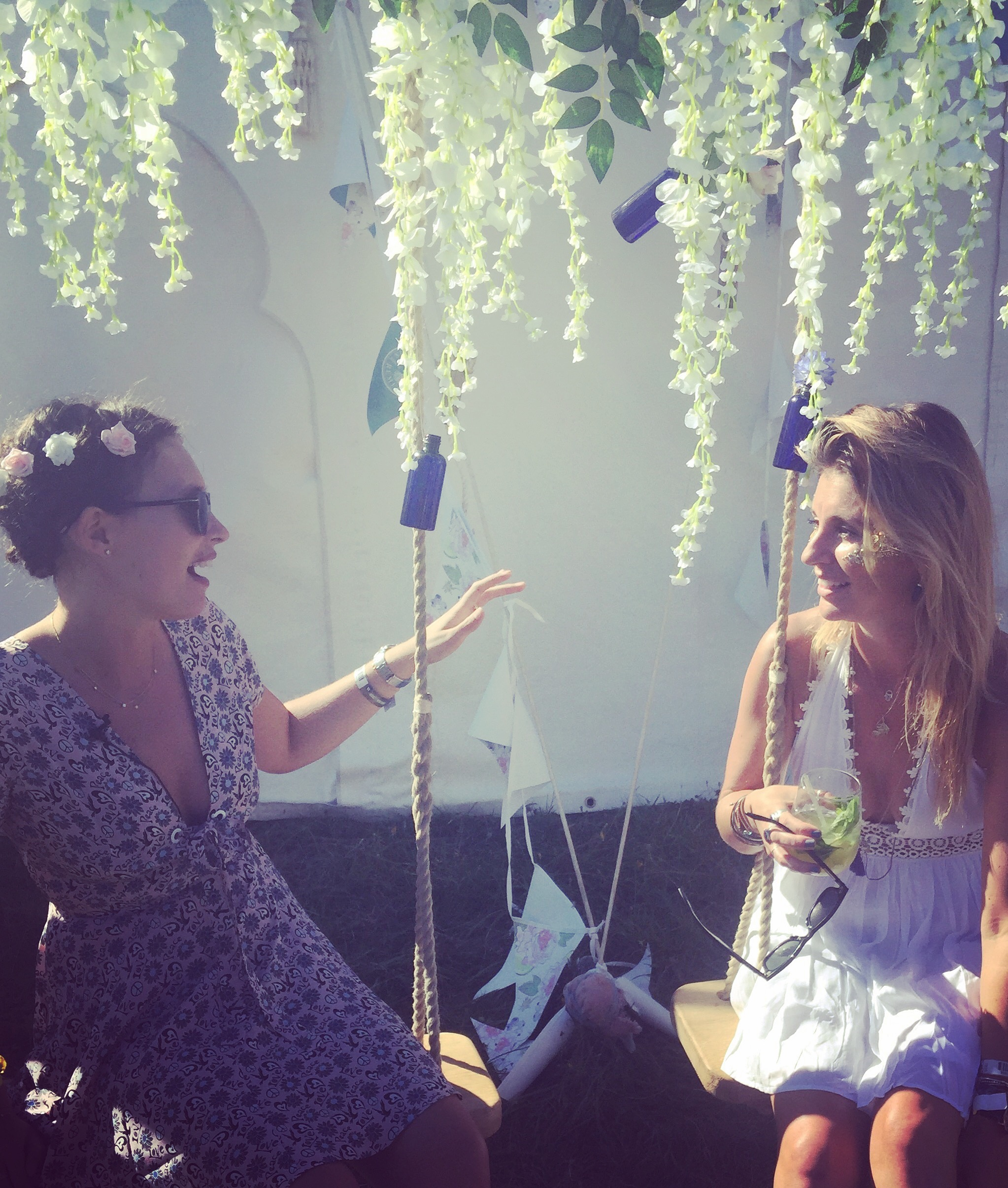 Myself and Deliciously Ella.. on a swing