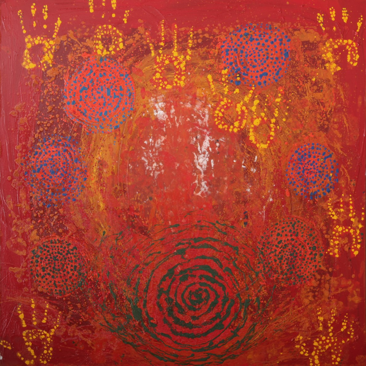 Dreamtime 1 - Oil, acrylic, moroccan plant powders48 x 48 inches£850Prints available
