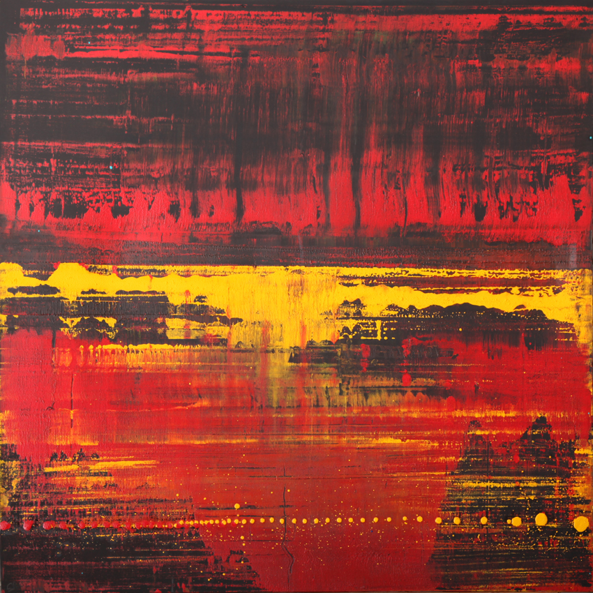 Sequence 4 Aldbourne - Oil, acrylic, moroccan plant powders48 x 48 inches£825
