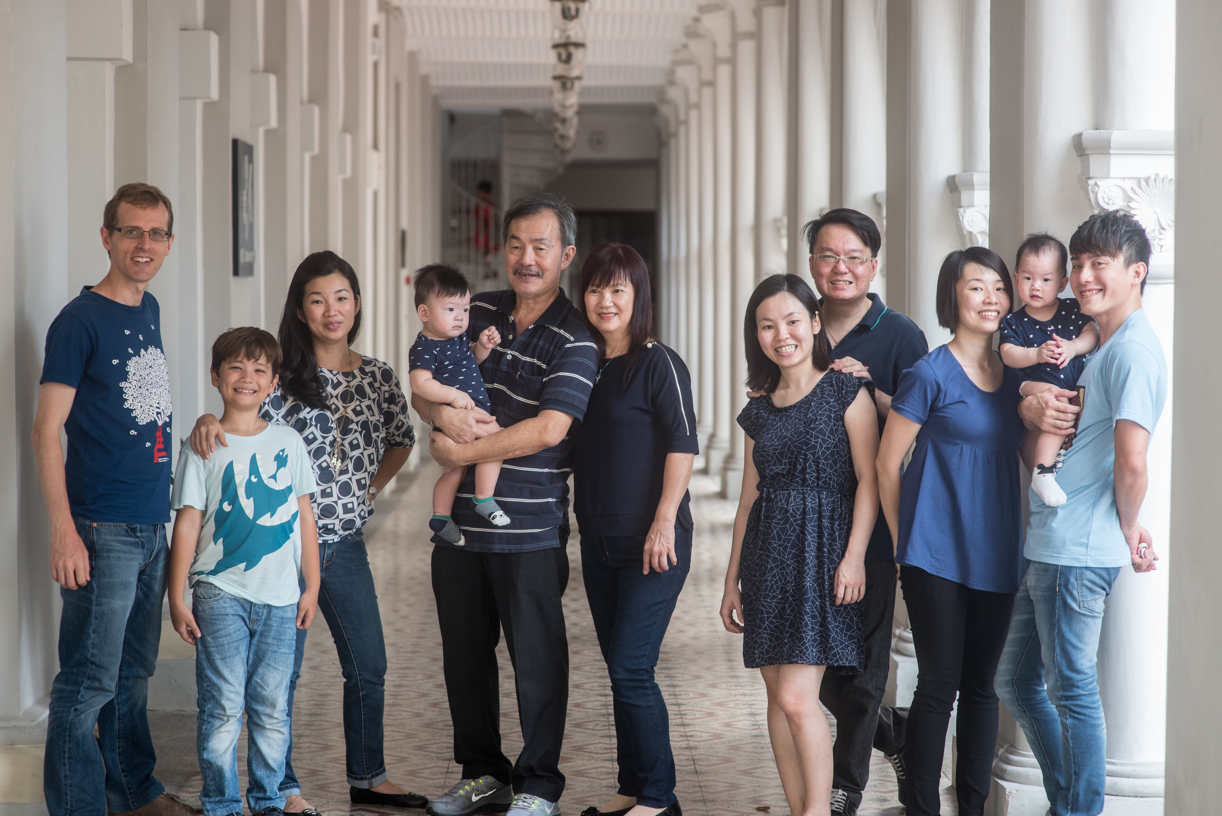 "The Ang family, with an ""ang moh"" in the mix."