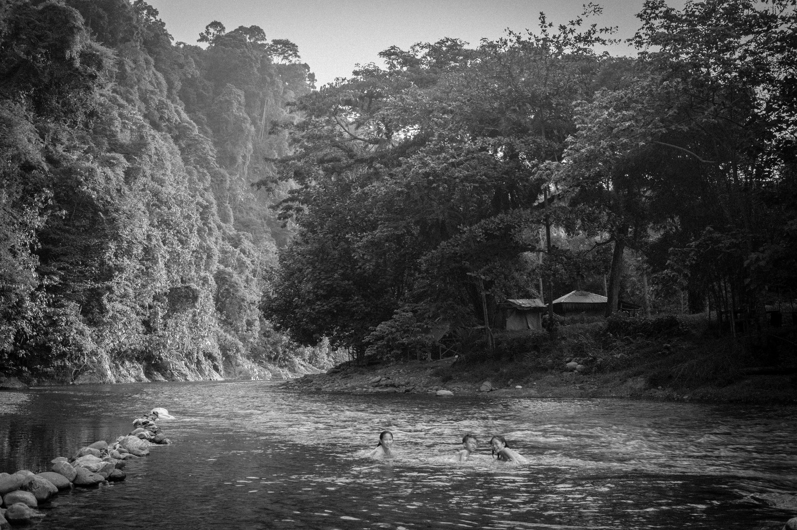 Or soaking in cold jungle rivers.