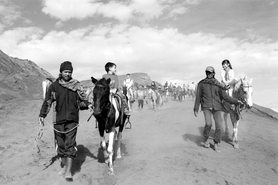 Pony-riding on Mount Bromo: one of the most unforgettable experiences for the kids. It was not riding around circles, but through undulating terrain and sometimes doing steep climbs.