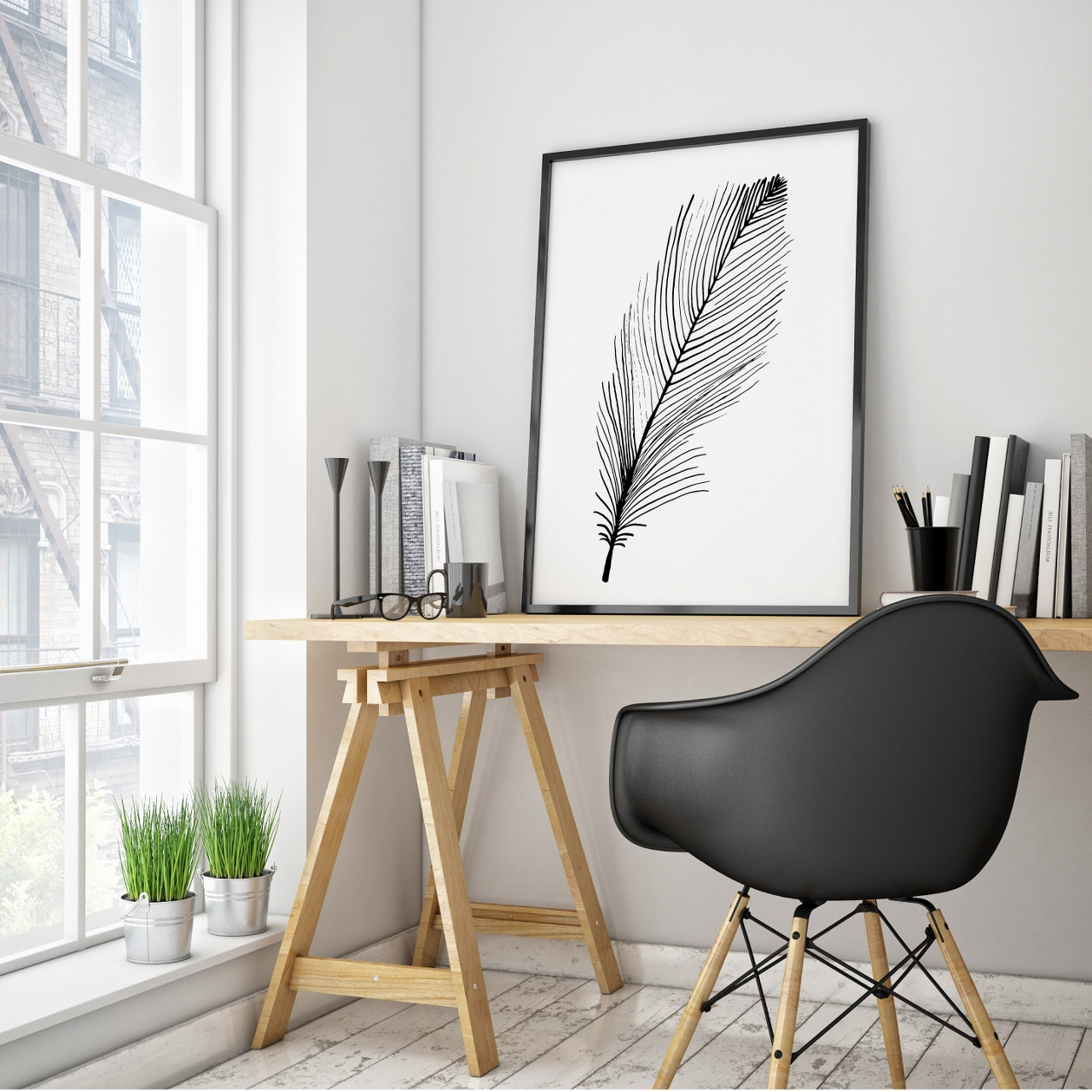 Nestled beside a window, with natural light streaming in and a serene view,location is everything when it comes to selecting the perfect spot to set up your work space. Image courtesy of  U  rbaani
