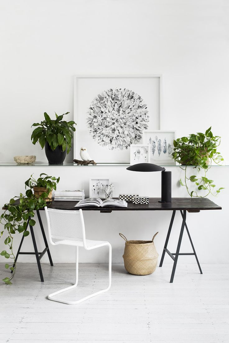 By up-cycling an old trestle table with a coat of paint, the little 'nice to have' items like an original artwork from  Mondocherry  are more affordable. Image courtesy of  Mondocherry .