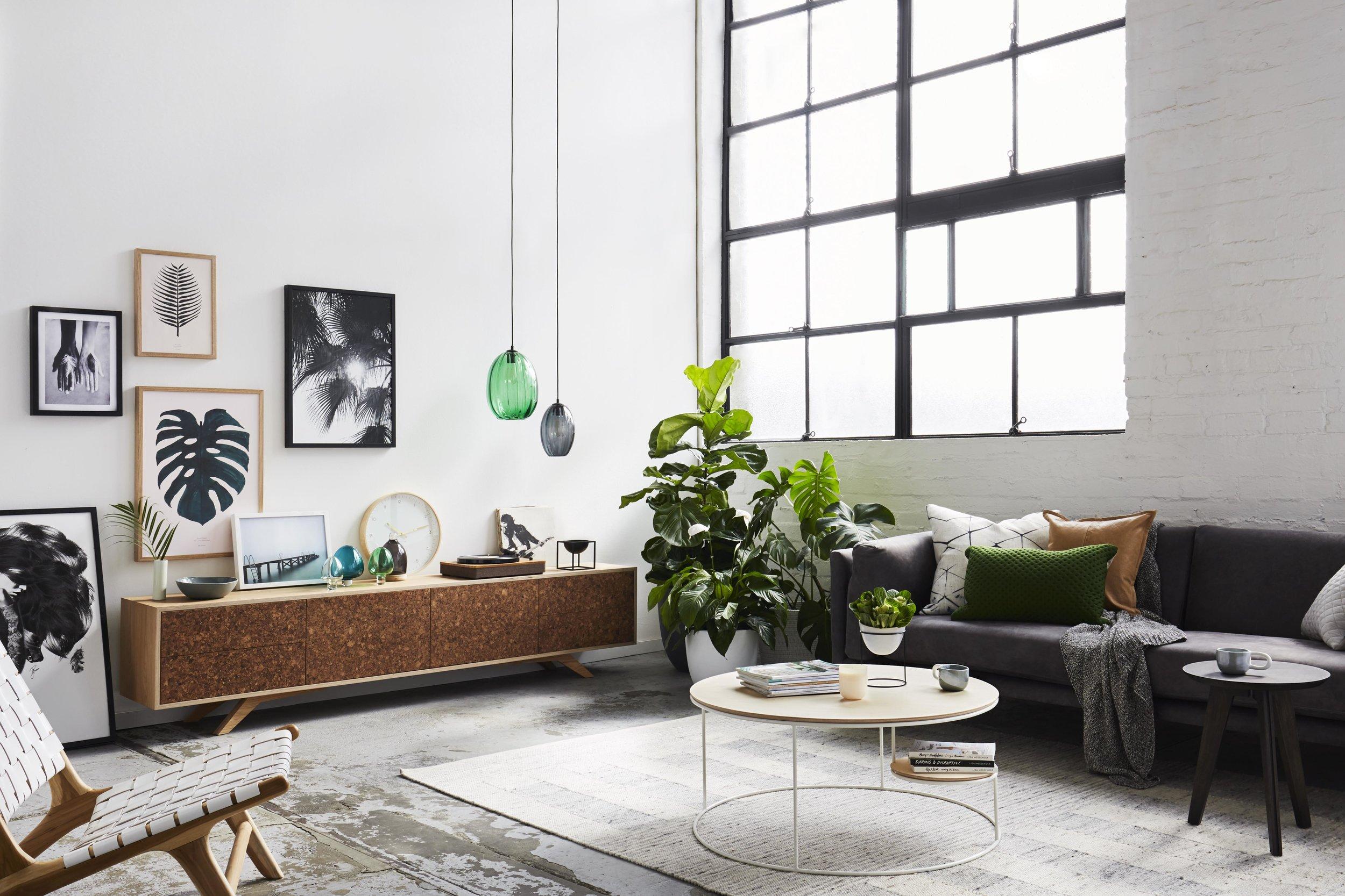 Maitland Street Interiors, Sarah Elshaug, Interior Stylist Melbourne, Felix Furniture Kork TV Unit
