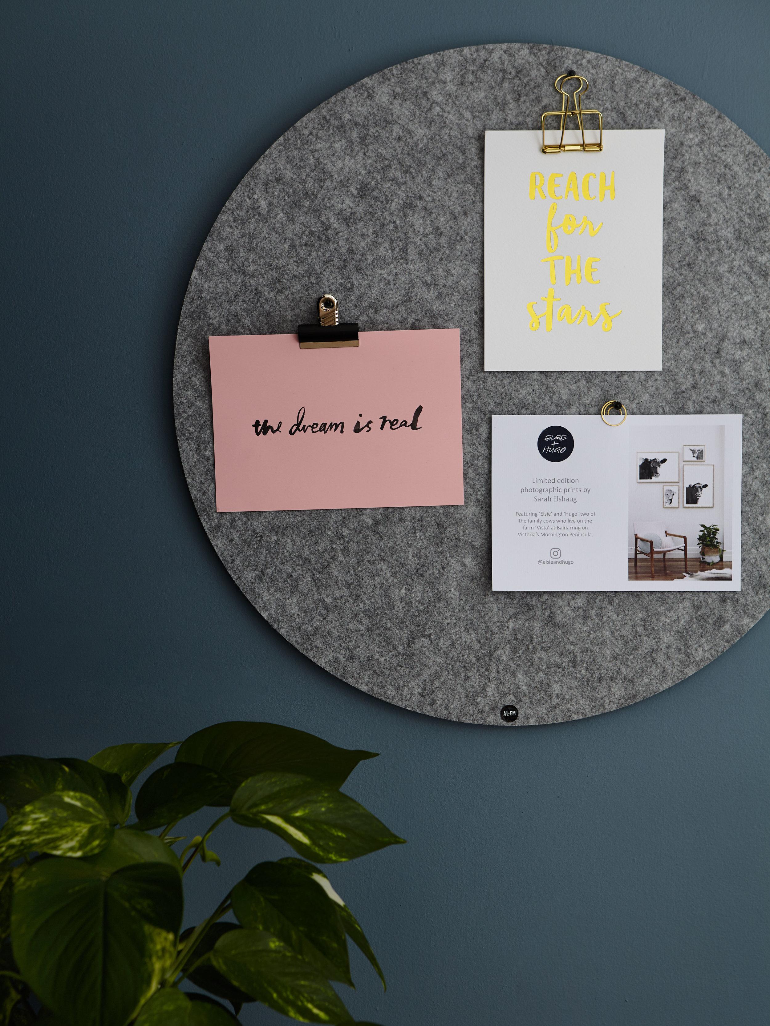 Maitland Street Interiors, Sarah Elshaug, Interior Stylist Melbourne, Office Details, Pinboard