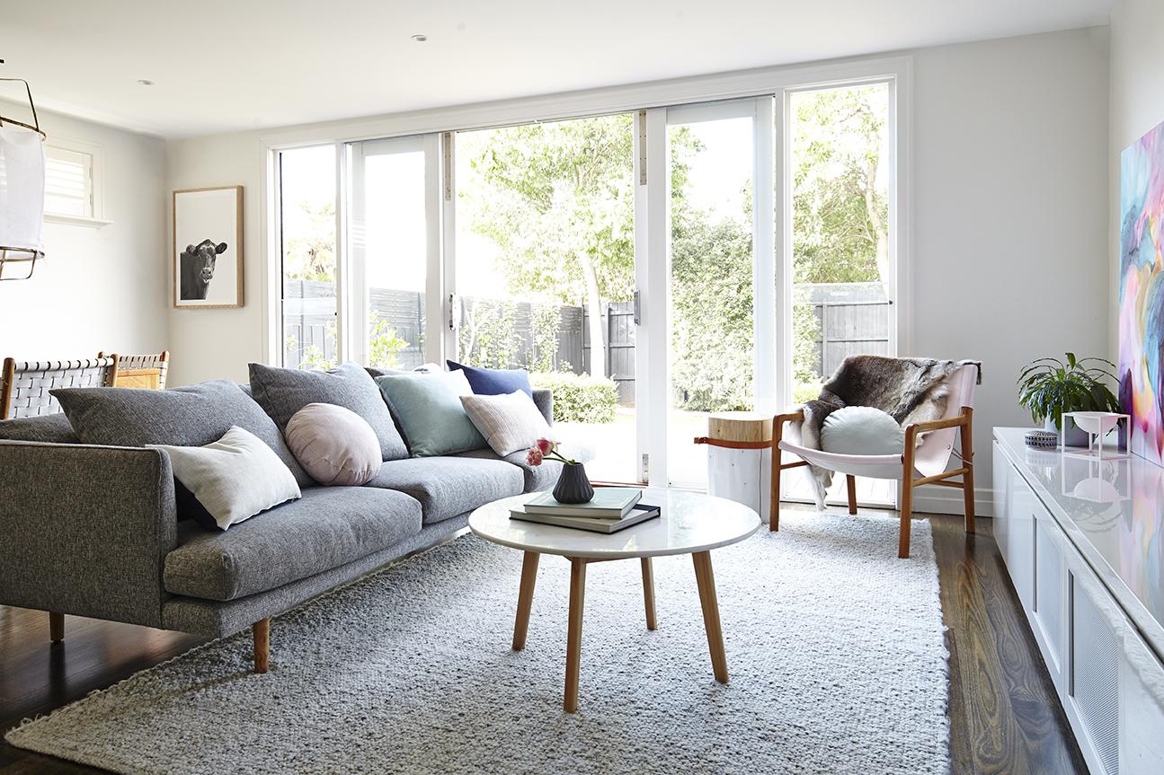 Maitland Street Interiors, Sarah Elshaug, Interior Decorator Melbourne, The Glen Iris Project, Scandi Living Room