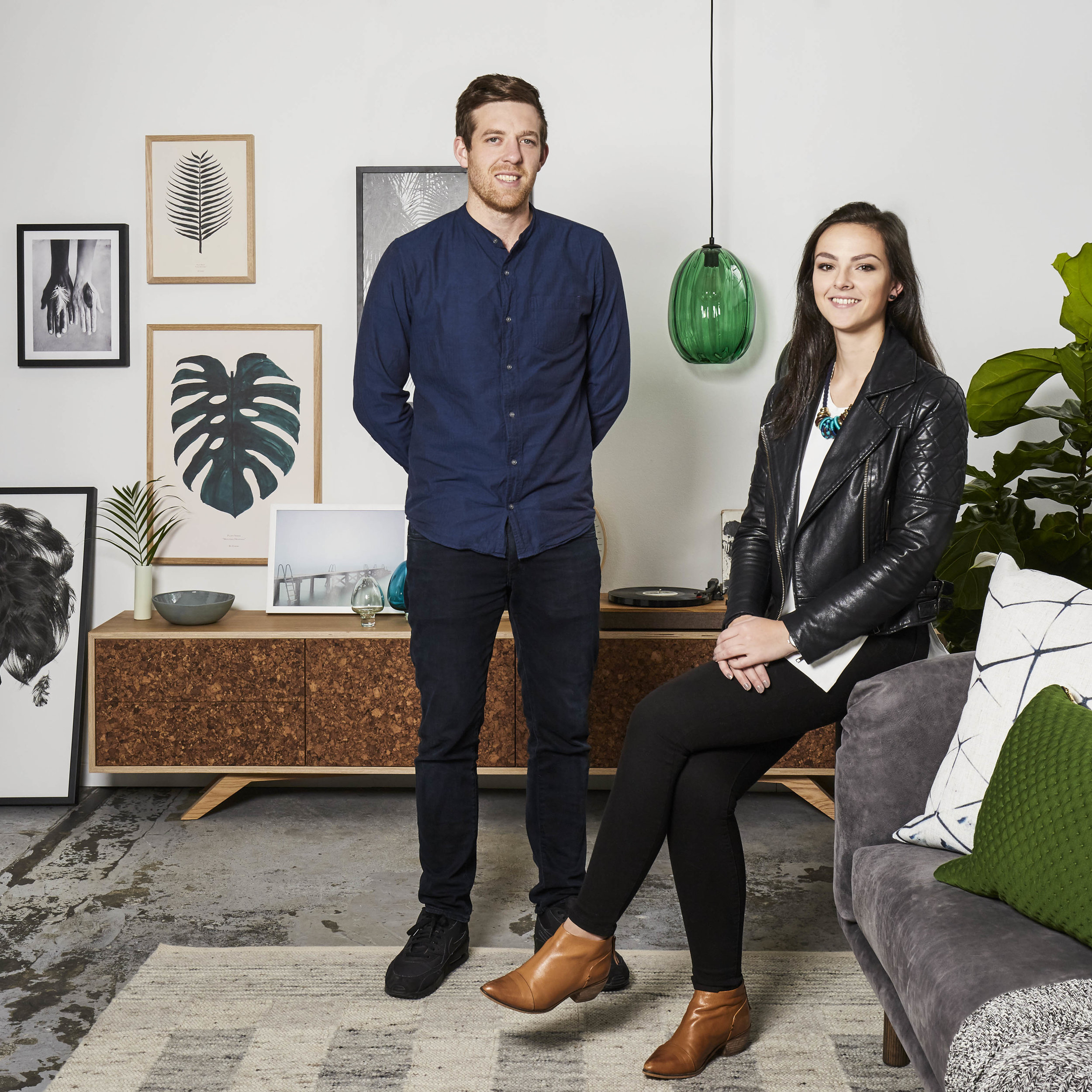 The creative duo behind Felix Furniture : Ian Anderson & Antonia Morrongiello. Interior Styling by Sarah Elshaug,  Maitland Street Interiors . Photographer:  Stephanie Rooney .