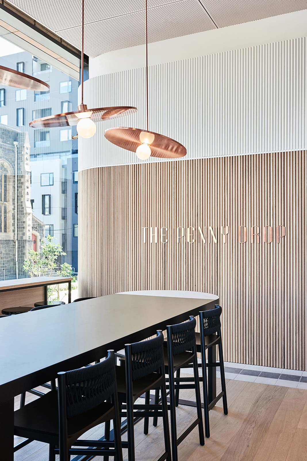 The Penny Drop Café, Box Hill.Interior Design: We Are Huntly, Photography: Brooke Holm.