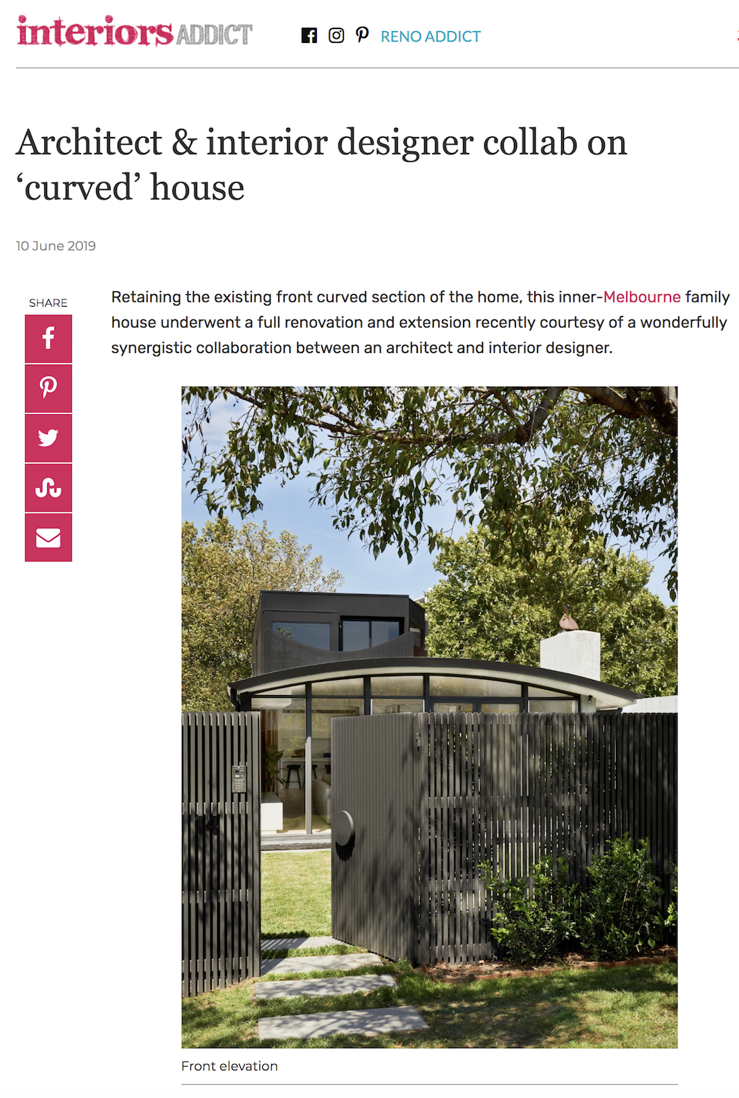 Sarah Elshaug, Maitland Street Interiors, The Curved House, Melbourne Interior Decorator, Interior Stylist
