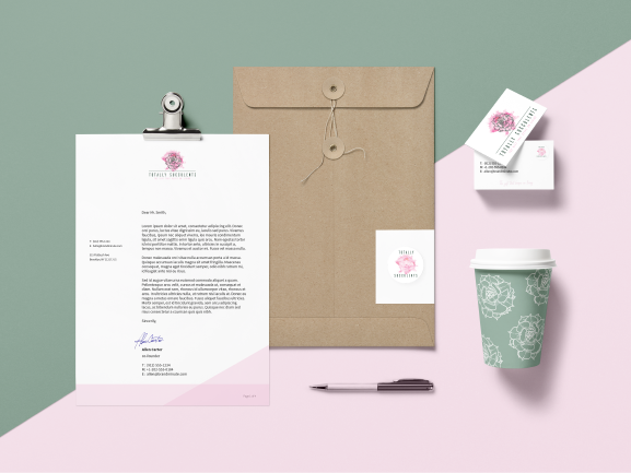 Totally Succulents - Branding/Identity & E-Commerce Website