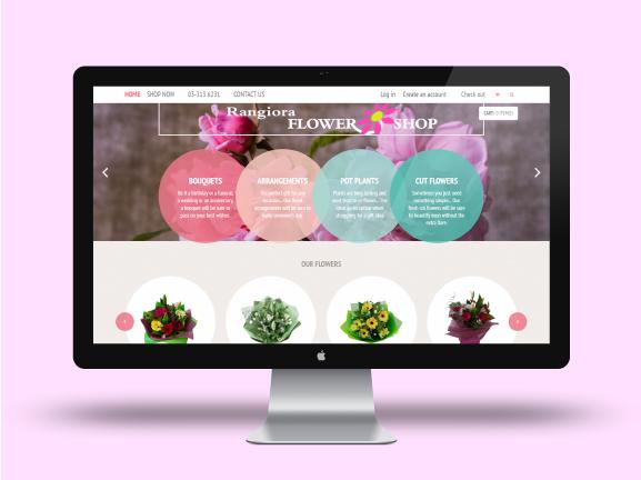 Rangiora Flower Shop - E-Commerce Website