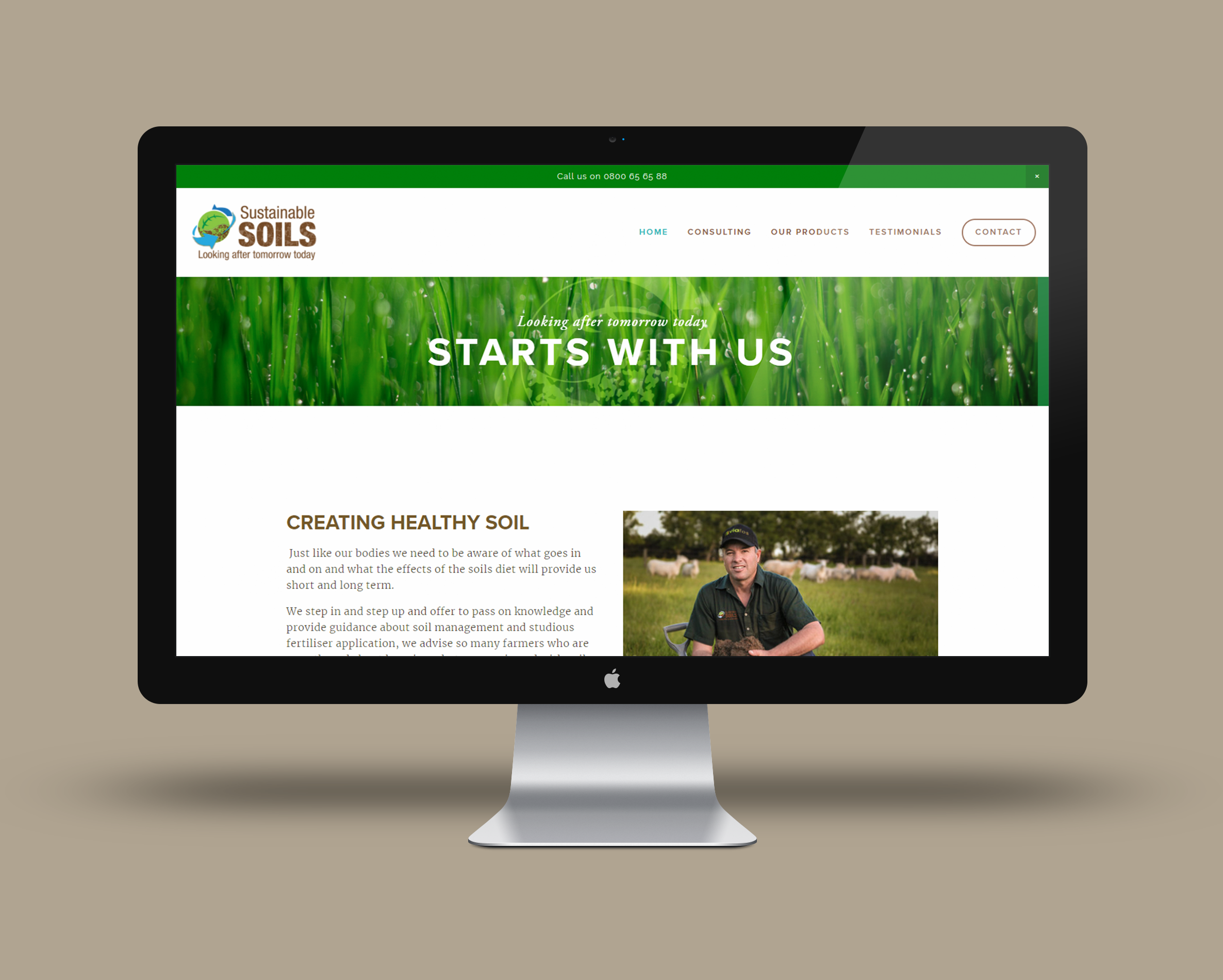 Sustainable Soils - Website Redesign, Mobile Responsive, & driving sale