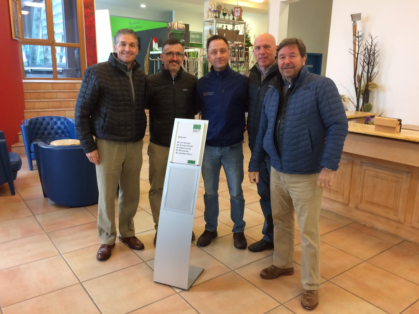 Andrew Grisafi of ARG & Co, Bill Jacobs of Historical Windows, Jonathan Piers of Specialty Builders Supply, Jay Harman of Harman Fensterbau, and Hiland Hill Turner Architect.