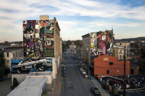 FAILE mural, 6th & Madison Streets