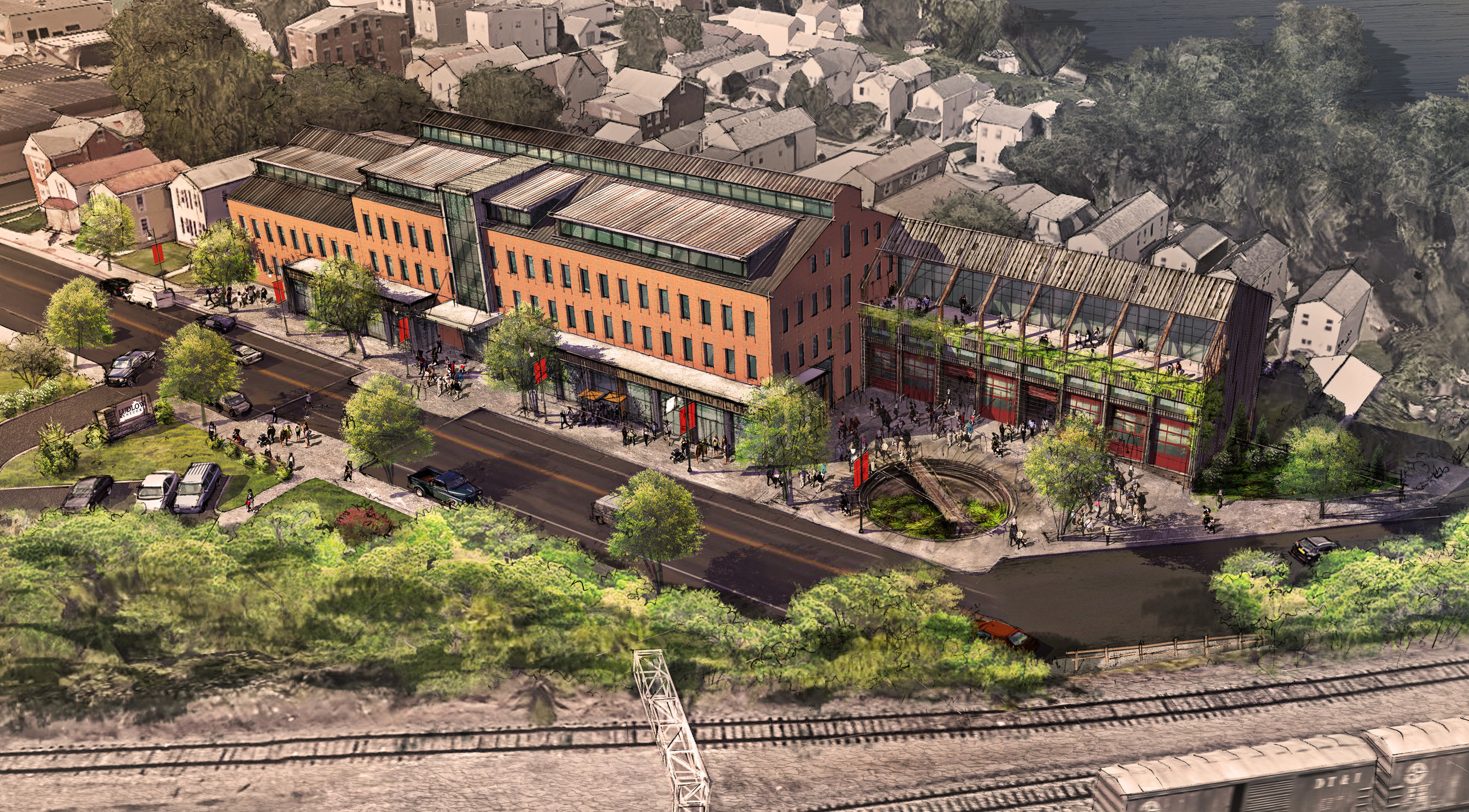 Ludlow Yards, a mixed-use development concept