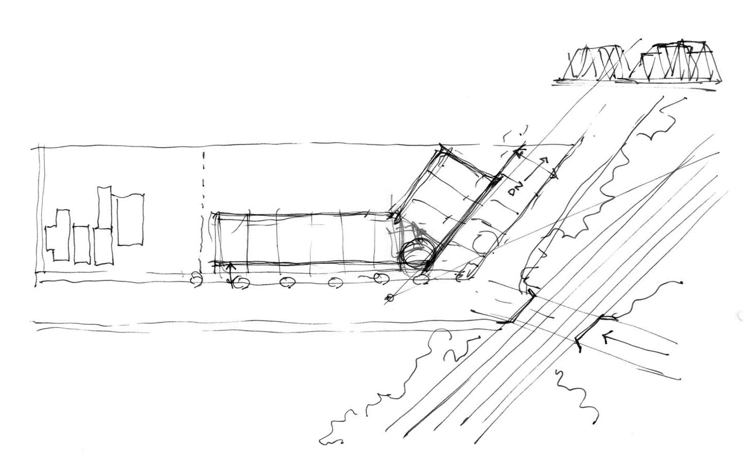 Preliminary sketch of the site