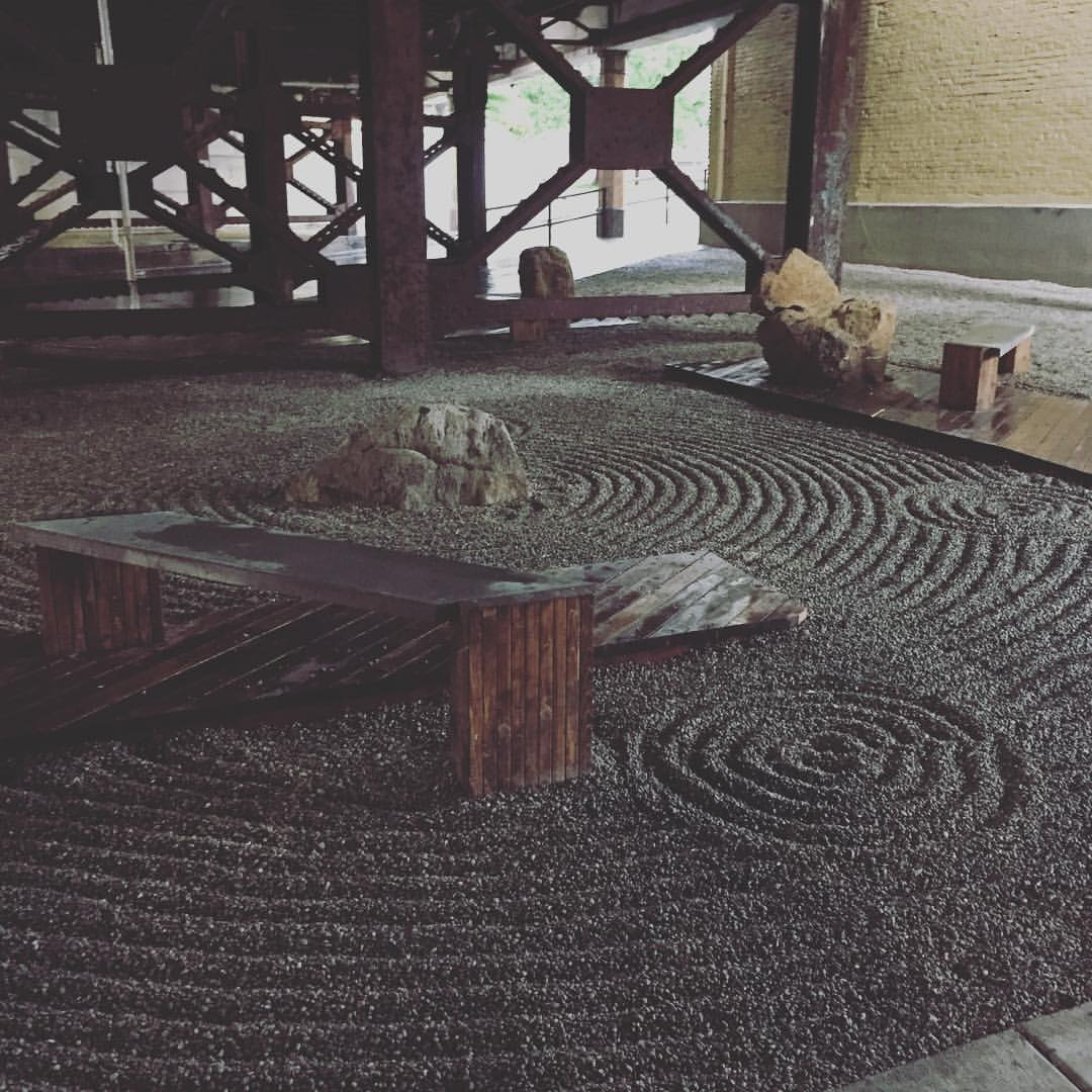 Rock/Zen garden at the corner of Pike and Russell streets