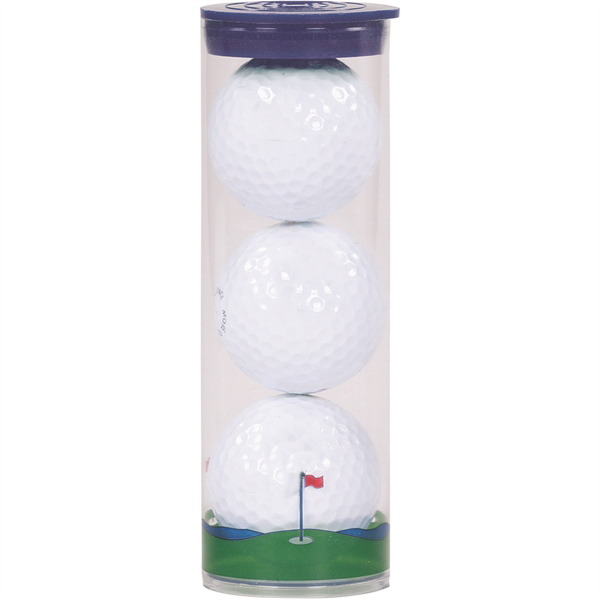 3 Wilson Chaos Golf Balls w/ Tube