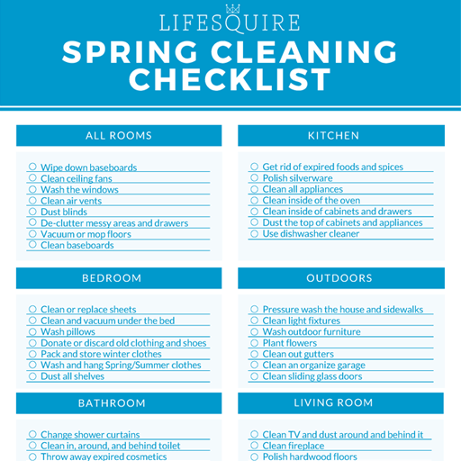 Spring Cleaning Checklist - It's time to get your clean on, so download our free Spring Cleaning Checklist to keep you on track.
