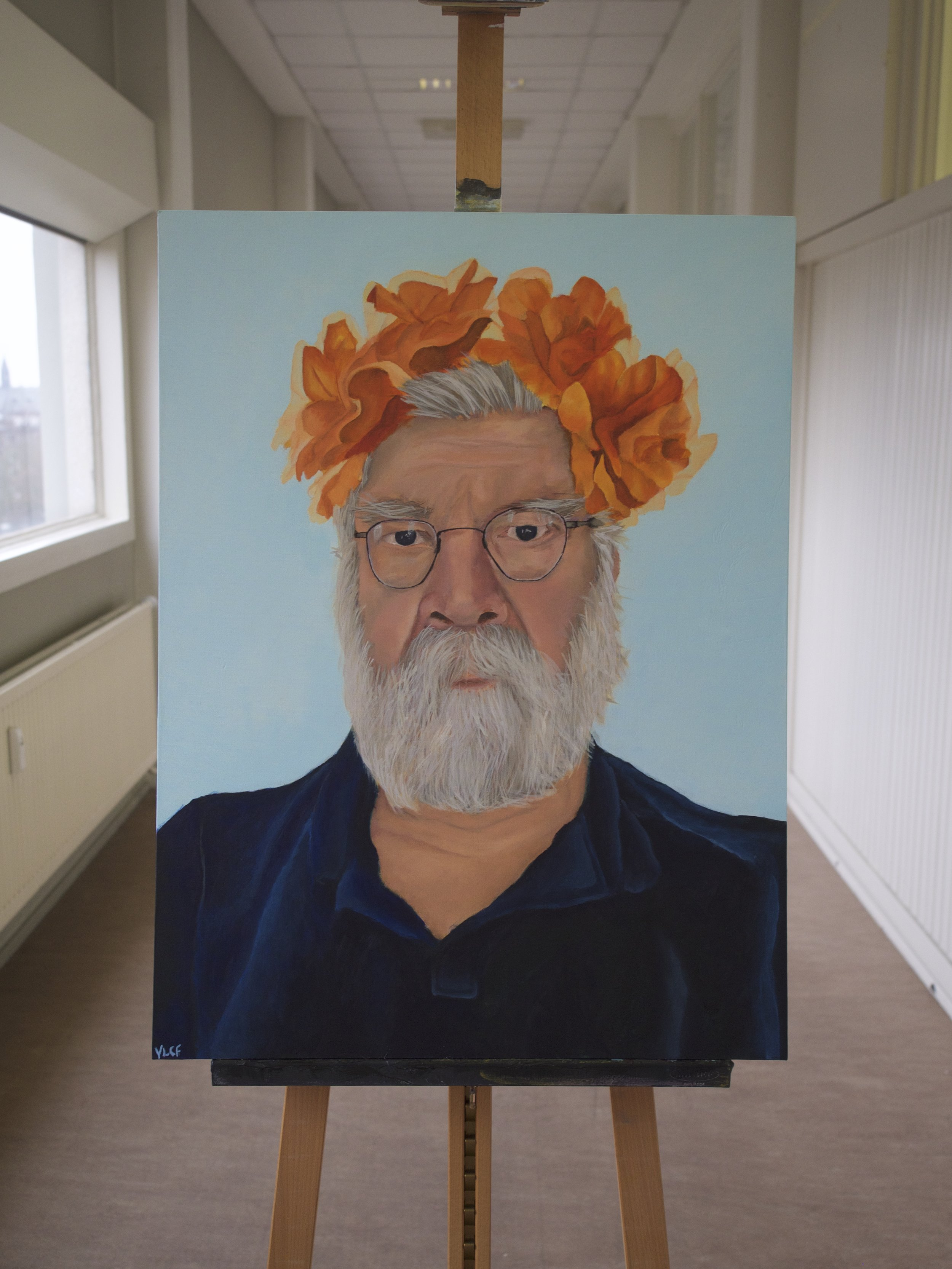 Kees  Acrylic on 60 x 80cm canvas board, part of Triptych One (€2200)