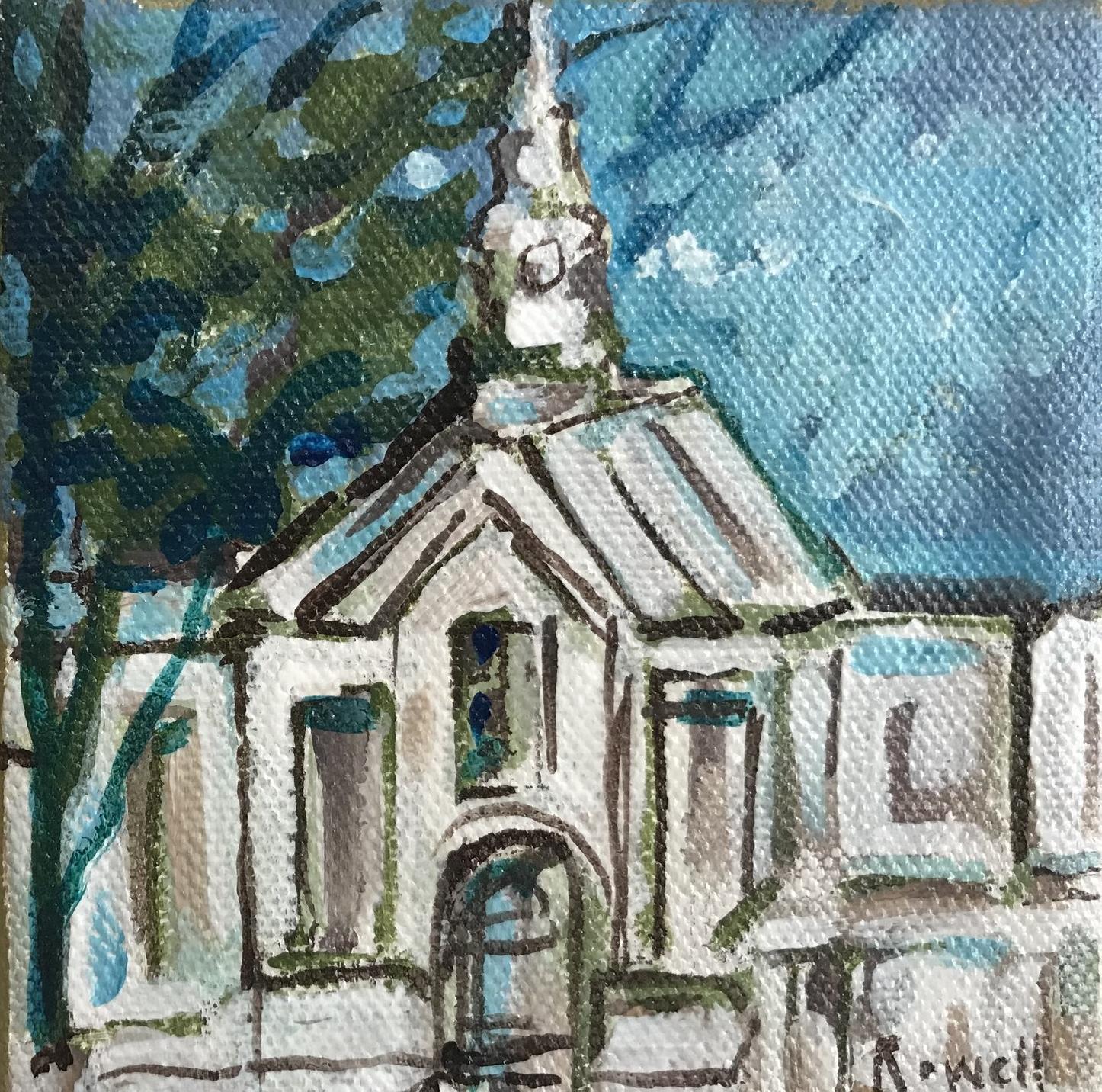 New England Church // 4x4 // $25