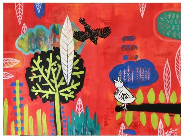 Black Bird White Bird // 48x36 // $350