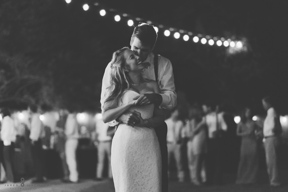 Bride and groom during first dance Fair Oaks Ranch, Texas wedding