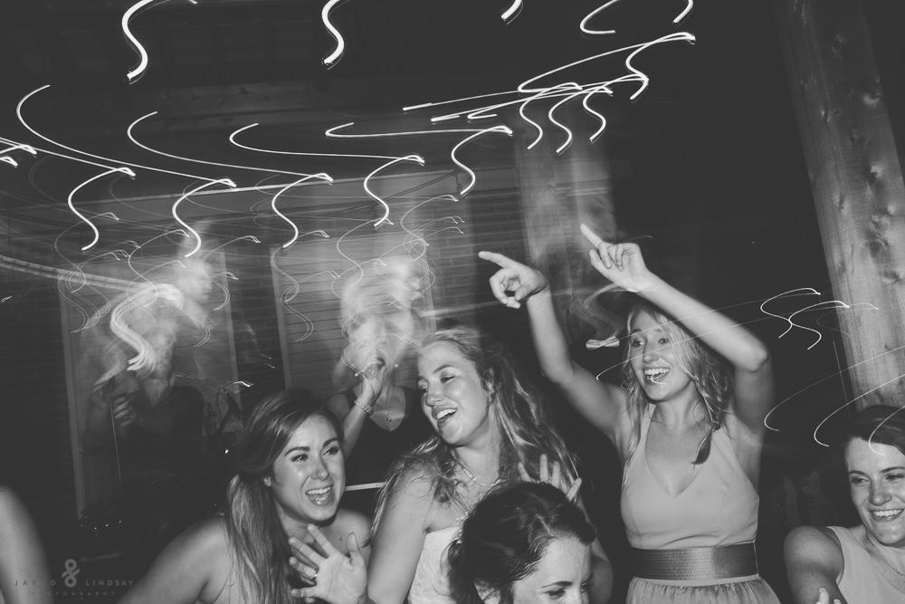Guests dancing at Texas wedding reception