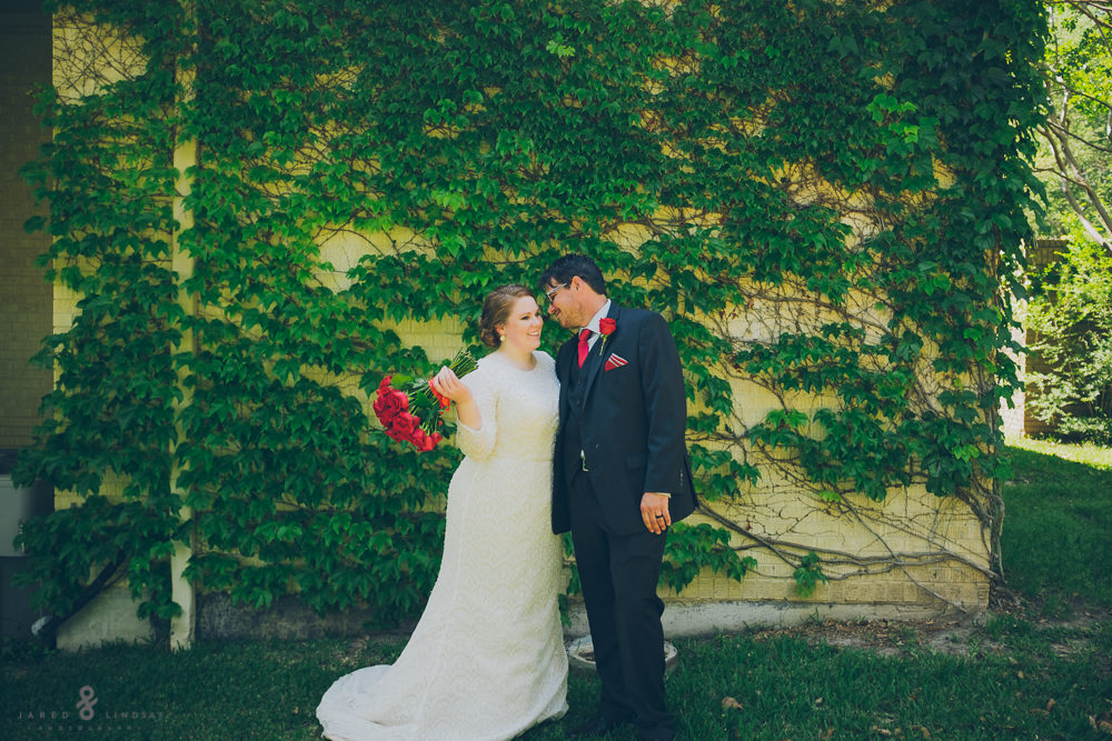 Bride and groom portrait at Fort Worth wedding