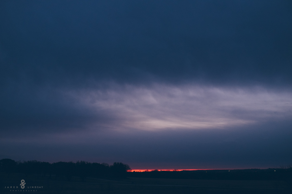 Sunrise on cloudy day