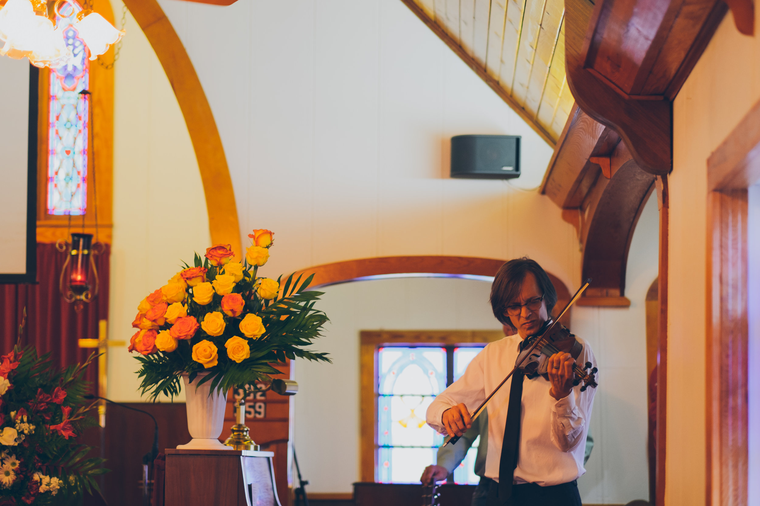My cousin, Reggie Rueffer, playing at Richard's memorial service. Reggie is a professional musician and has played with many big names, including Charlie Pride.