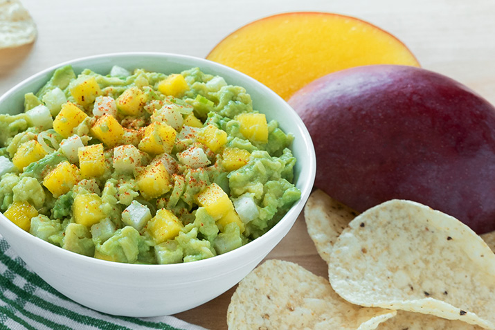 This is a fantastic dish to serve at a party; just double (or triple) the recipe and use a wider bowl or small casserole dish. The crunchy jicama, sweet mango and creamy avocado are a delicious topping for tostadas and quesadillas, too.