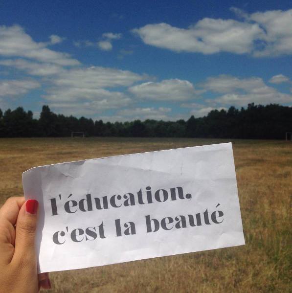 Campus Rep & Program Coordinator Sam shared this photo from her trip to France last year.  She said these photos, although little, remind her of the incredible memories she made.  We love seeing one of winning #Design4HerEducation designs traveling across the ocean!
