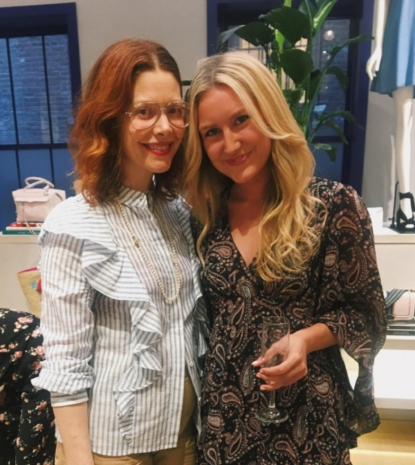 Our PR Intern, Hedy, with Christene of Refinery29.